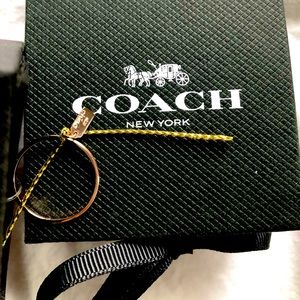 NWT Coach Size 8 Rose Gold Ring